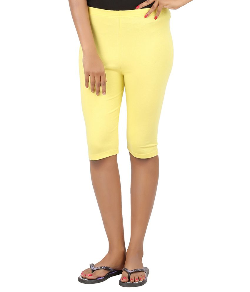 Checkersbay Yellow Cotton Lycra Tights