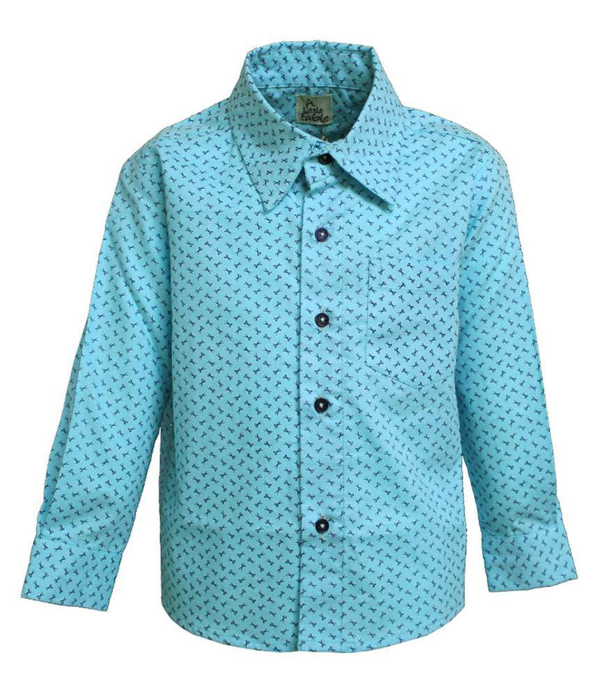 A Little Fable Blue Shirt For Baby Boy