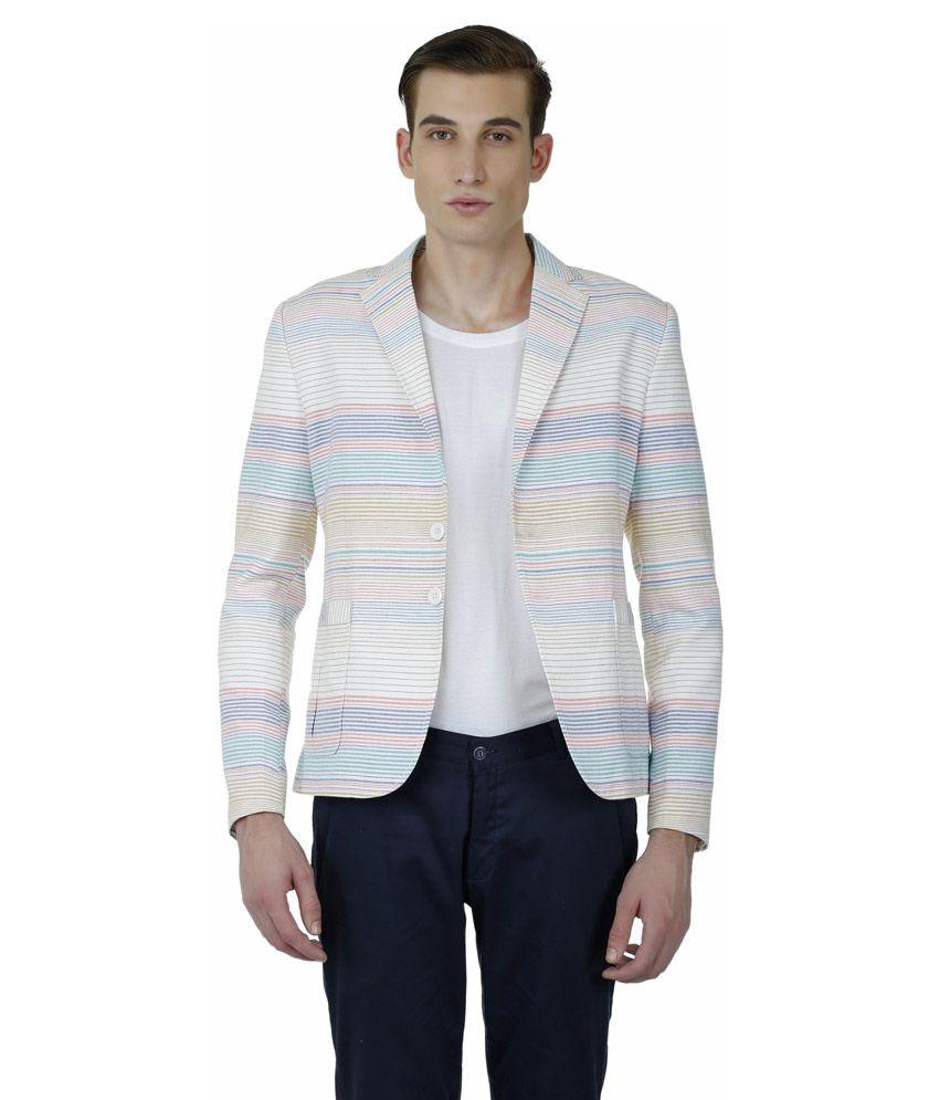 Baba Rancho Multicolour Cotton Blend Blazer