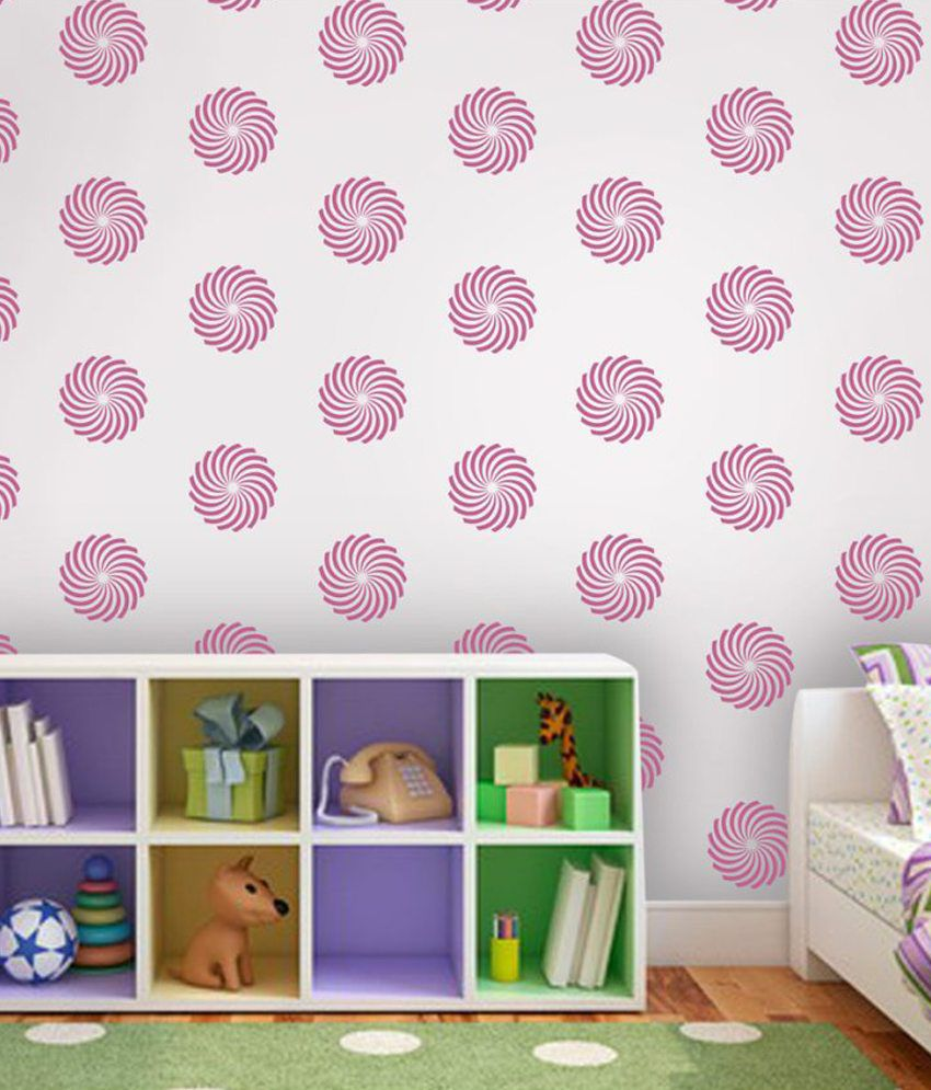 Arhat Stencils Glossy PVC Abstract Wall
