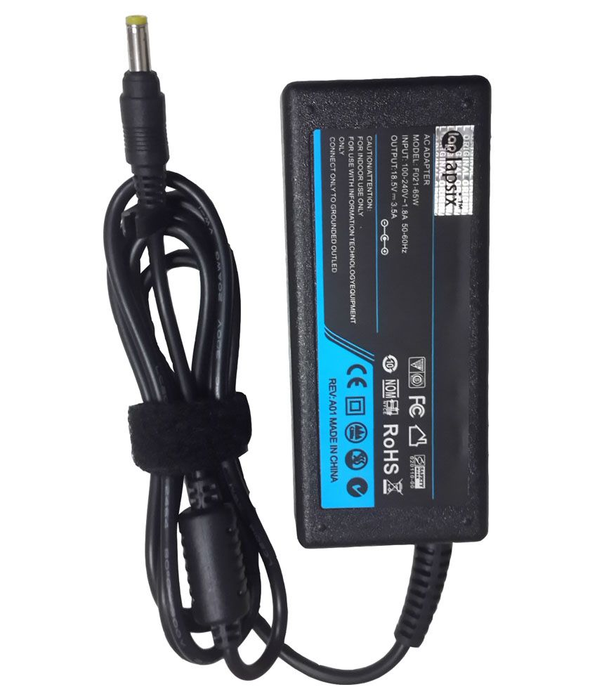 Lapsix Ac 65W Laptop Adapter for Compaq Pavilion DV1000 CTO 18.5V-3.5A SMALL PIN 65w