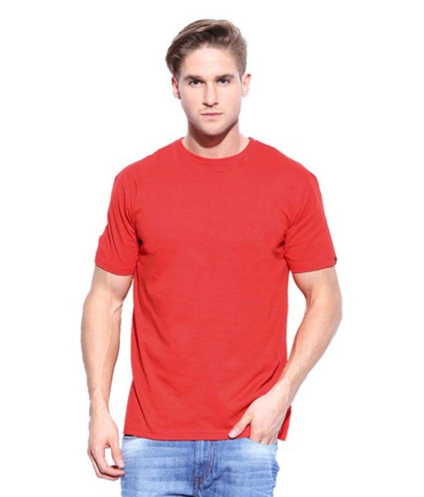 Saatvik Enterprises Red Cotton Blend T-shirt - Pack Of 2