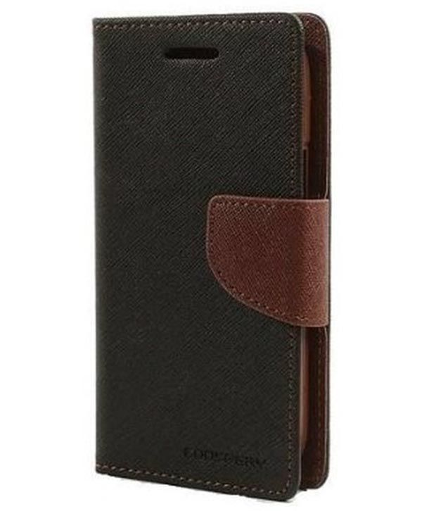 the best attitude e8c1d 5dd5d Mercury Goospery Flip Cover For Micromax Canvas Spark Q380 - Brown