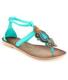 Shoe Lab Turquoise Sandals