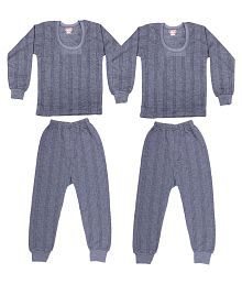 Zimfit Black Cotton Blend Night Wear - Set Of 2