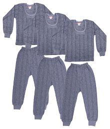 Zimfit Black Cotton Blend Night Wear - Set Of 3