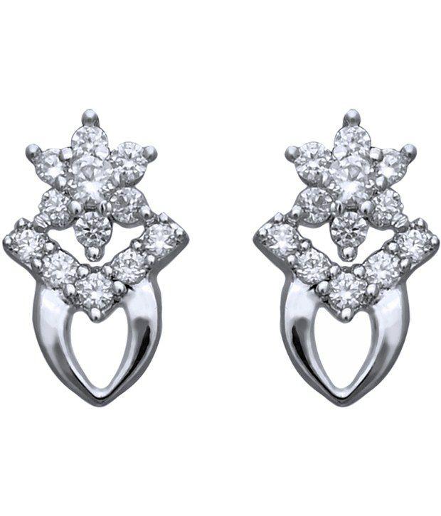 Clara 92.5 Sterling Silver Contemporary Swarovski Earrings
