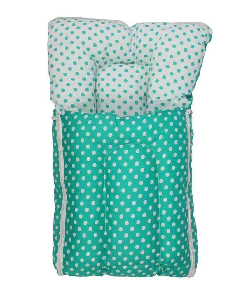 Inztanz Green Mixed Cotton Sleeping Bag