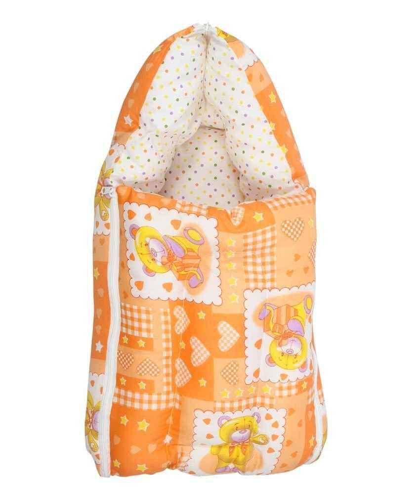 Inztanz Orange Mixed Cotton Sleeping Bag