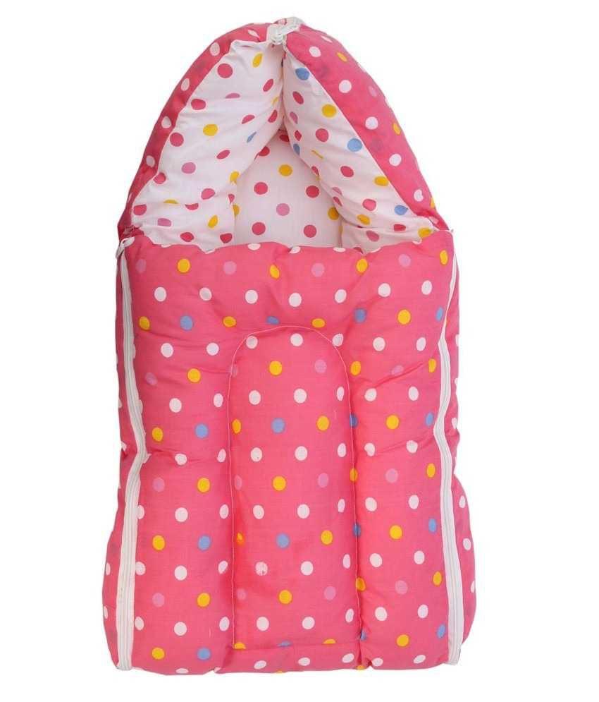 Inztanz Pink Mixed Cotton Sleeping Bag