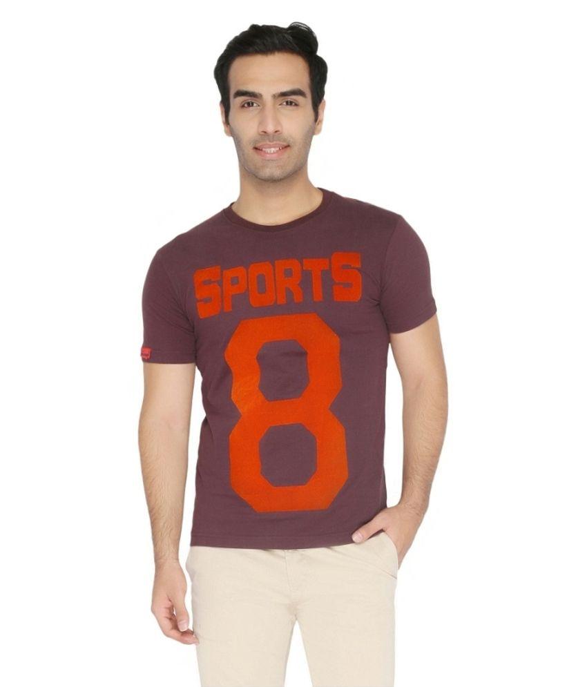 Again? Vintage Brown Cotton T-shirt