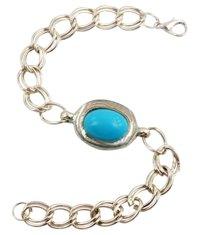 Alphaman Silver and Blue Bracelet