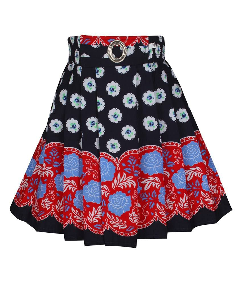Jazzup Black Cotton Skirt