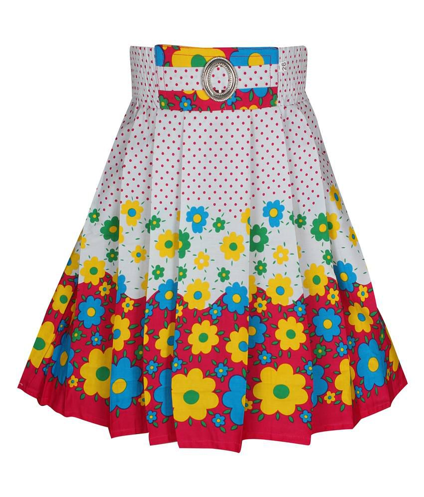 Jazzup Multicolour Cotton Skirt