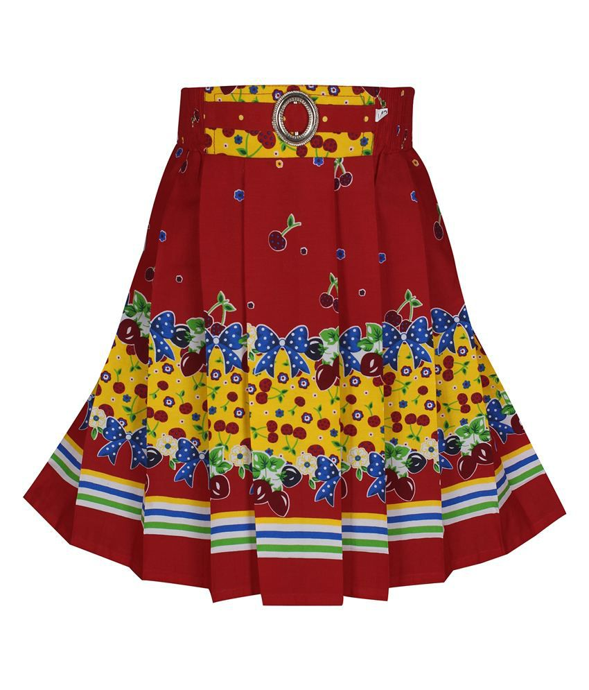 Jazzup Red Cotton Skirt