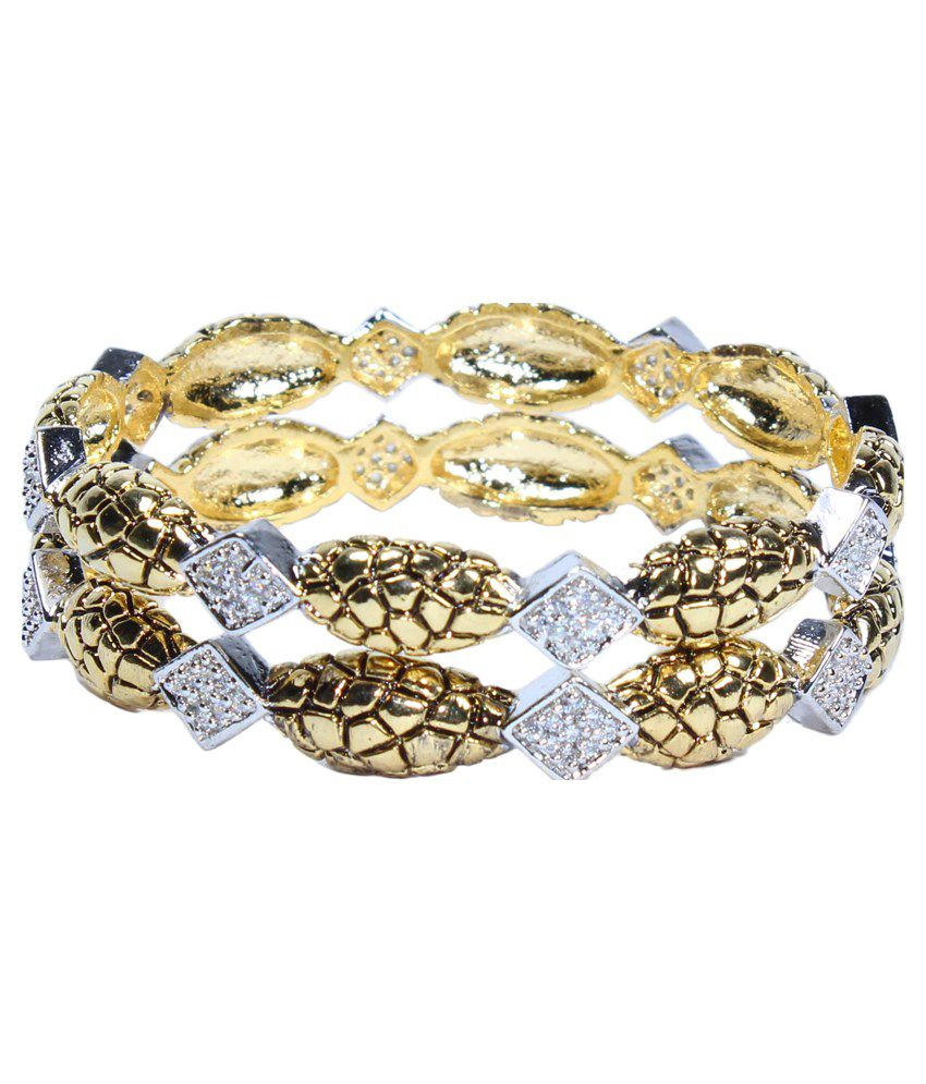 Kanchan's by Inlehaat Silver Antique Bangles