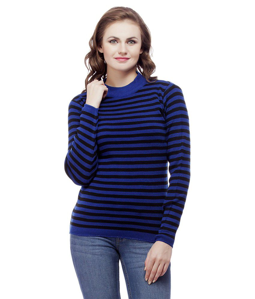 Knitco Blue Acro Wool Pullovers