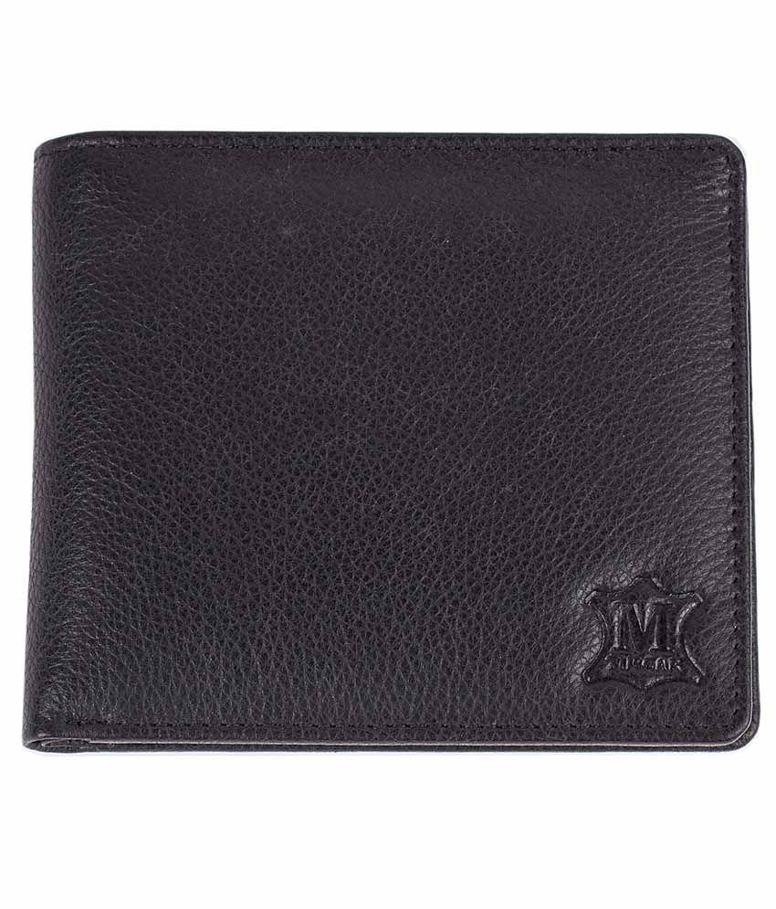 Mtuggar Leather Black Men Regular Wallet