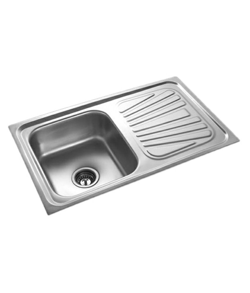 buy radium stainless steel kitchen sink 37 x18 x8 online at low rh snapdeal com