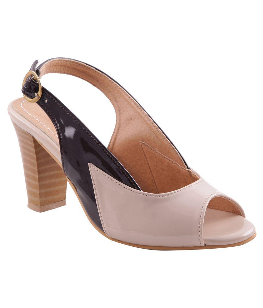 cdfd3561ab2 Adorn Beige Block Heel Sandals Price in India- Buy Adorn Beige Block Heel  Sandals Online at Snapdeal