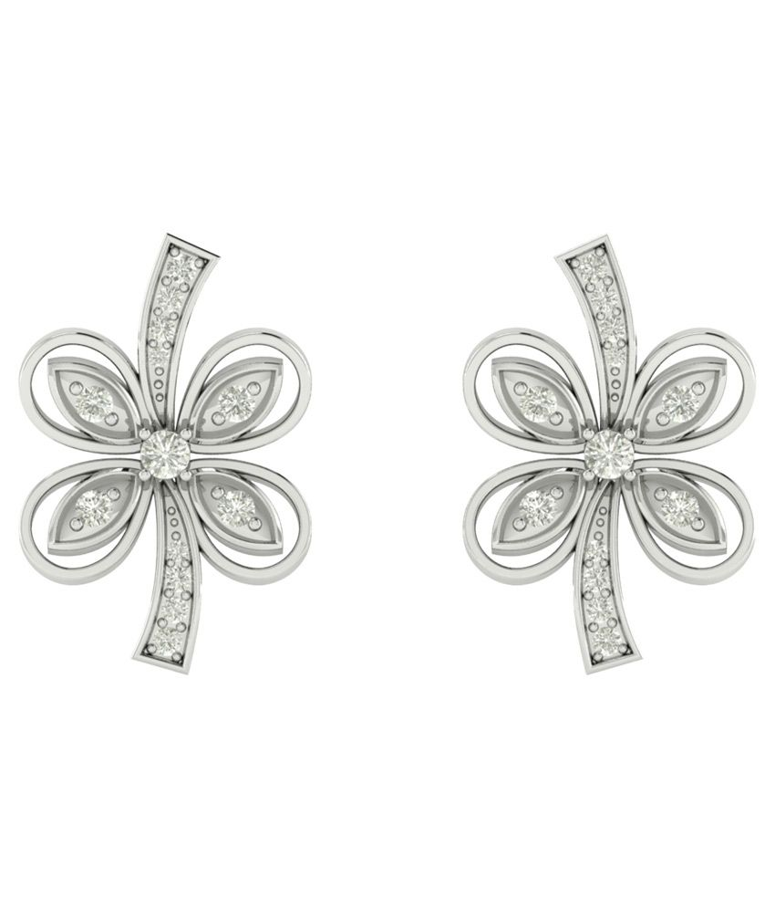 Charu Jewels 18kt White Gold Contemporary Earring