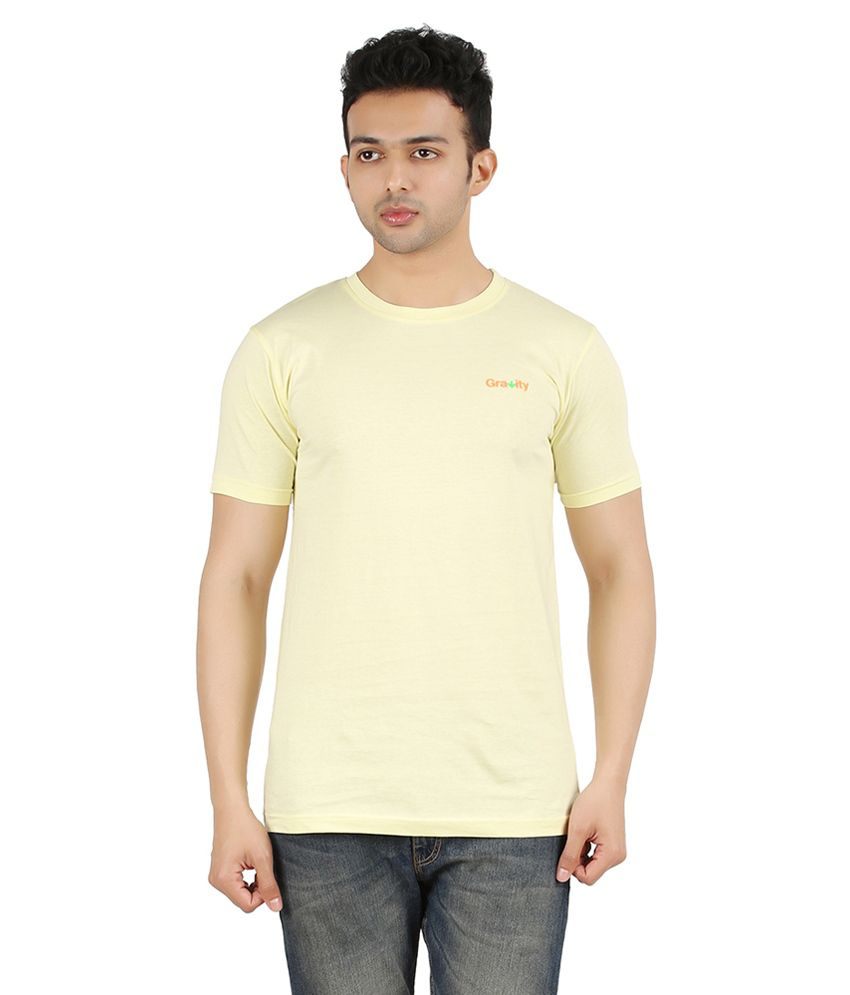 Gravity Plus Yellow Cotton T-Shirt