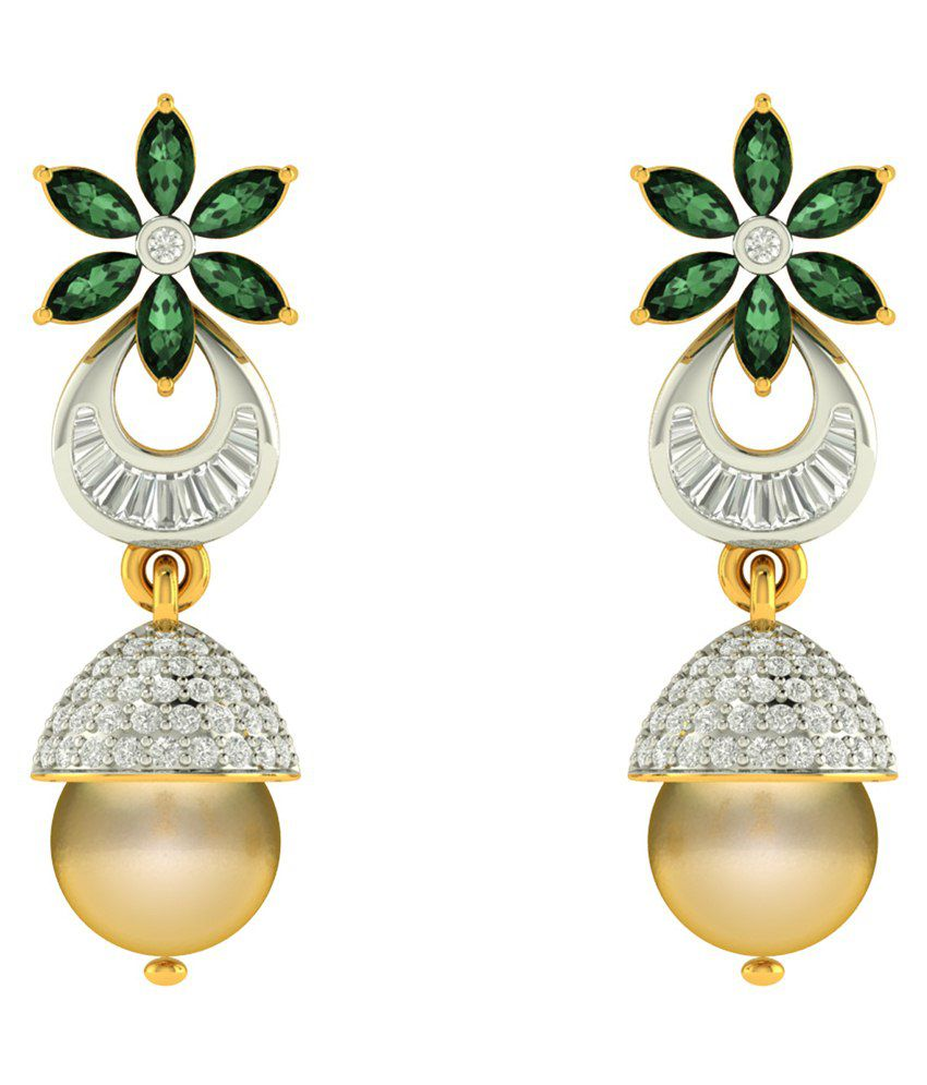 Charu Jewels 18Kt Gold Jhumki Earrings