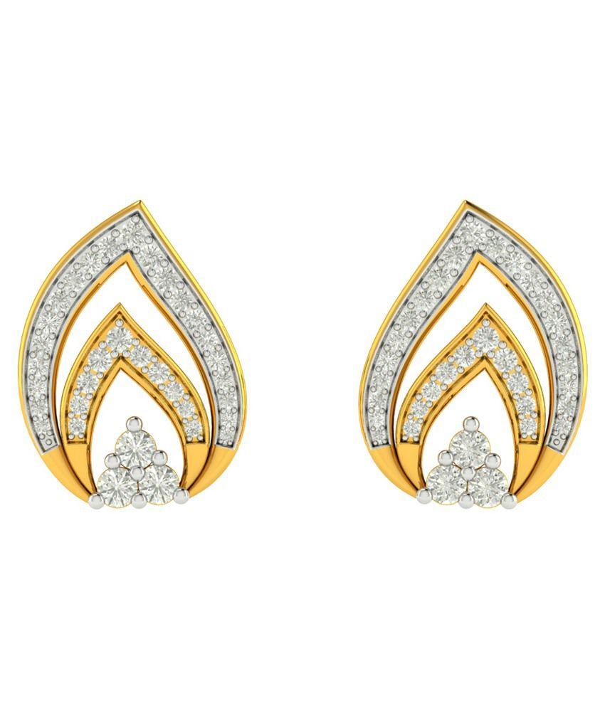 Charu Jewels 18Kt Gold Stud Earrings