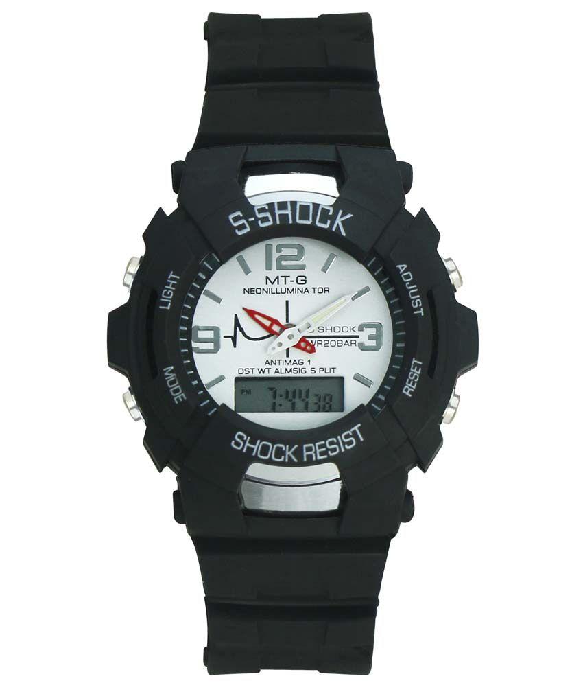 Crude Black Analog-Digital Sports Watch