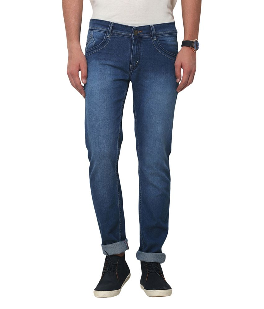 Yepme Navy Blue Cotton Jonas Denim - Medium Wash