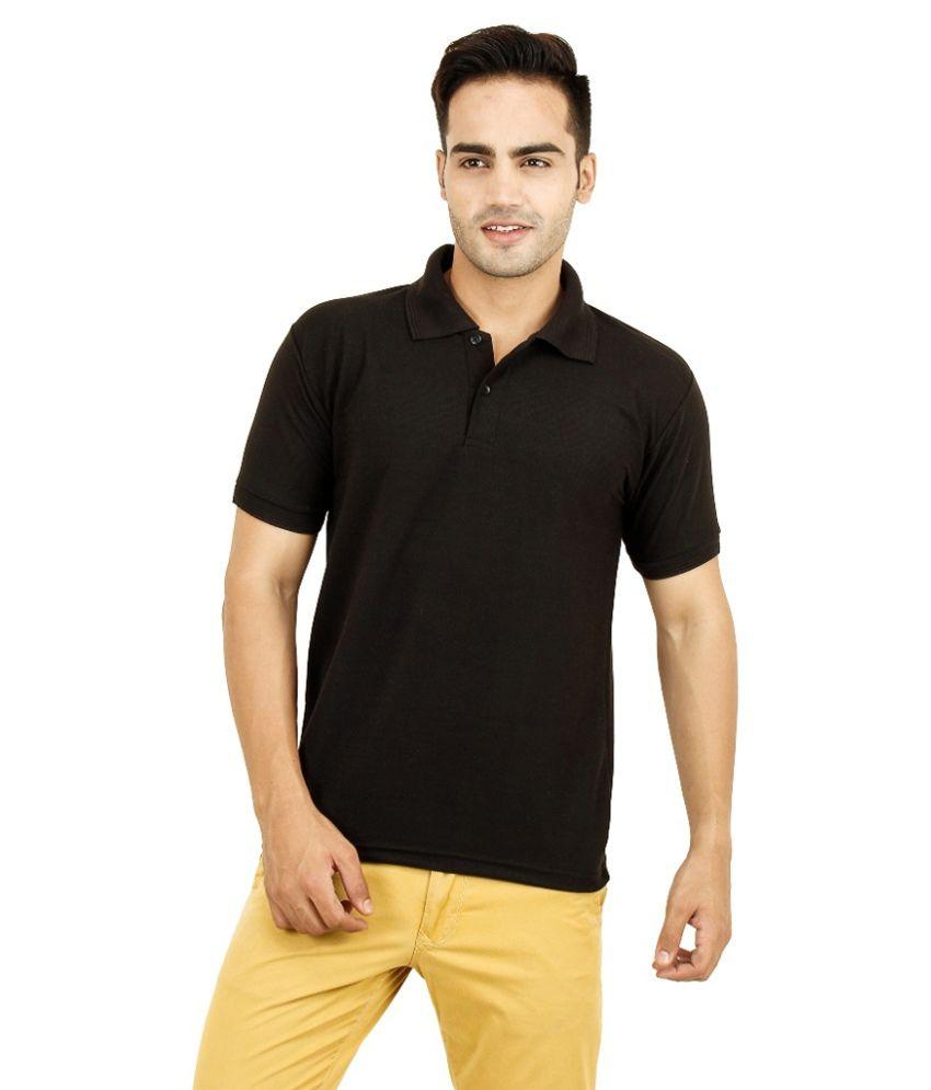 Sonaj And Company Black Cotton T Shirt