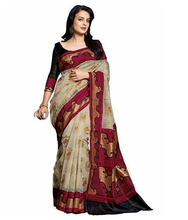 Latest Multi Cotton Silk Saree Buy Latest Multi Cotton