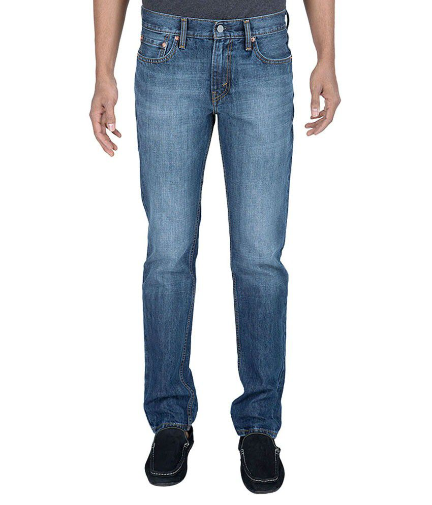 Levi'S Blue Slim Fit Cotton Jeans