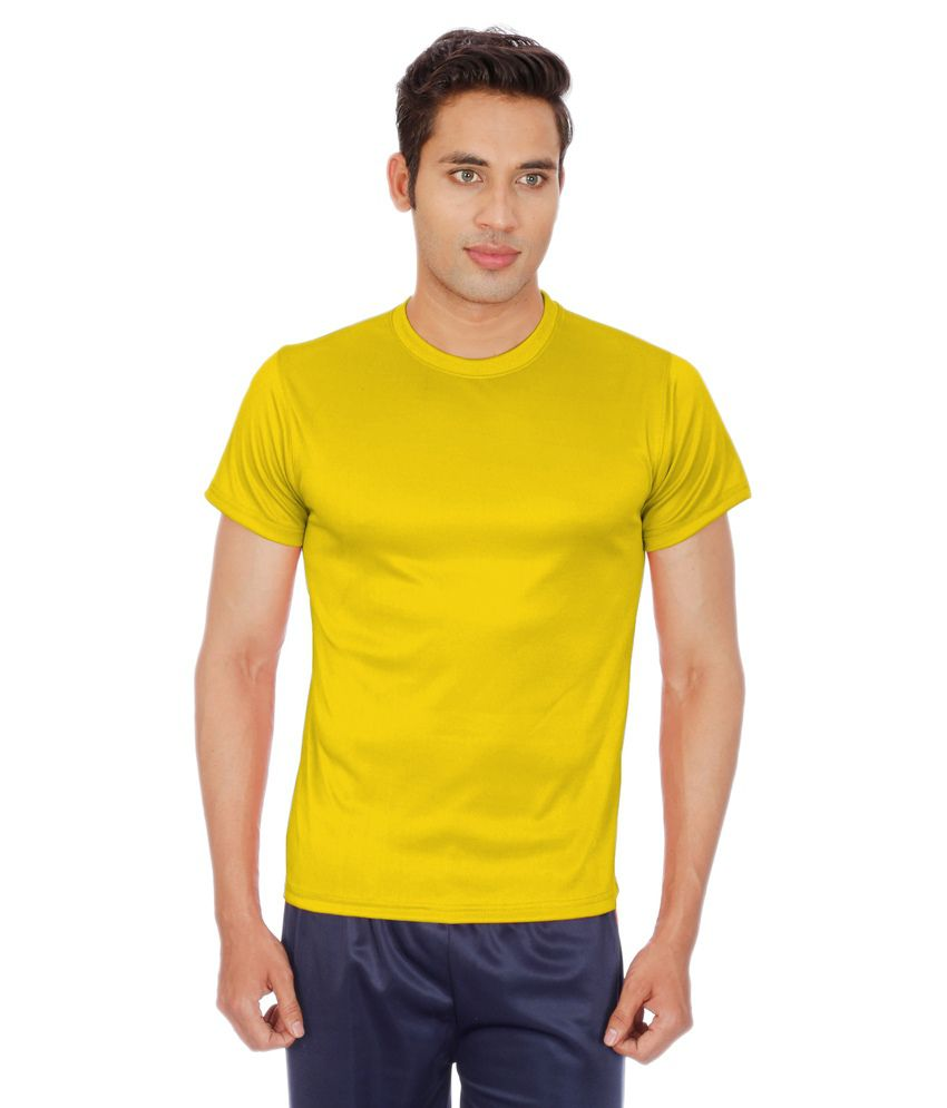 Sportee Gold Polyester T-Shirt