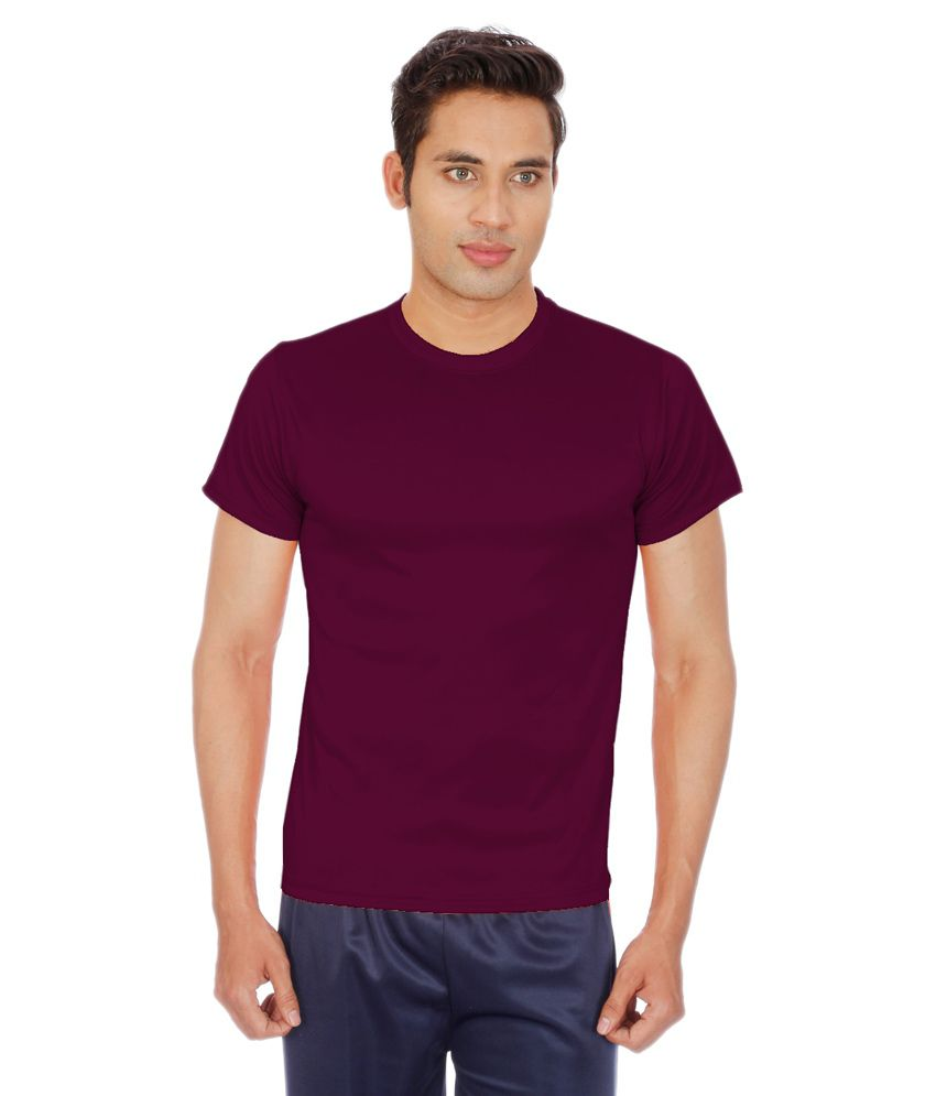 sportee maroon polyester t shirt buy sportee maroon polyester t shirt online at low price in. Black Bedroom Furniture Sets. Home Design Ideas