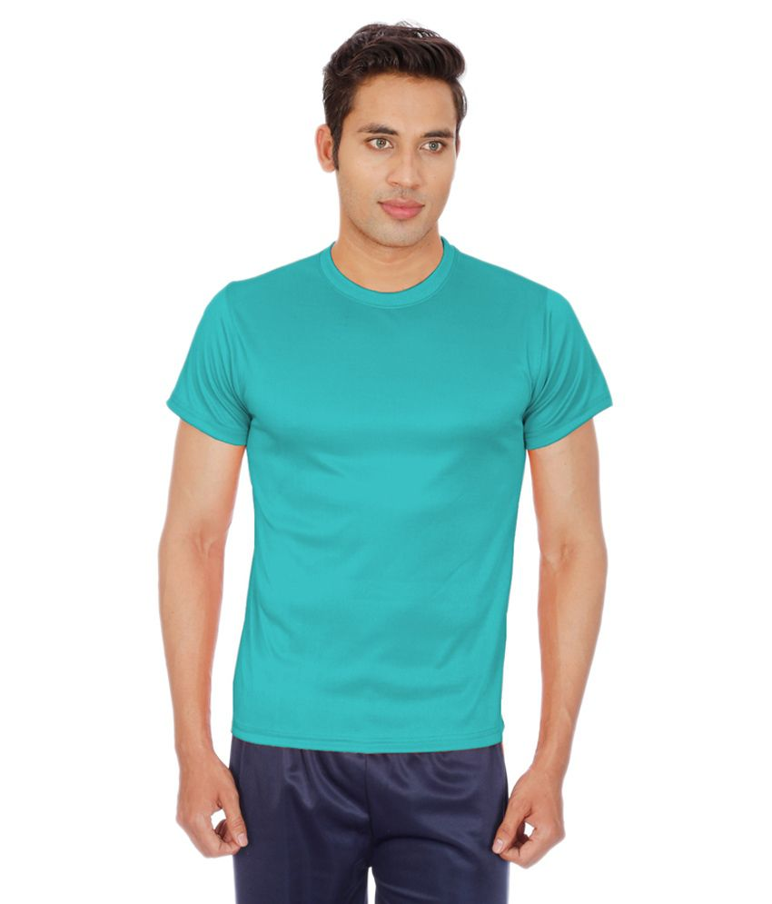 Sportee Turquoise Polyester T-Shirt