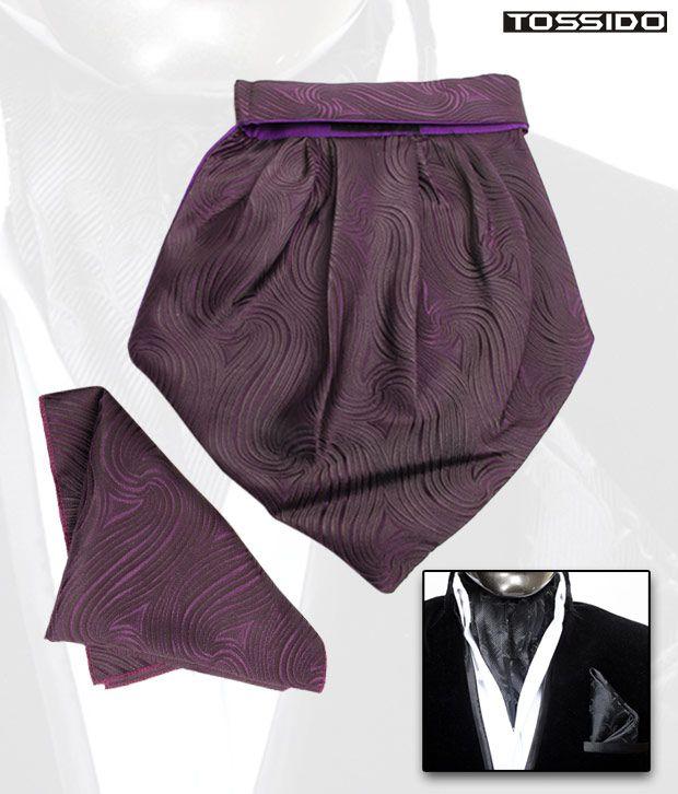 Tossido Purple Cravat & Square Pocket Set