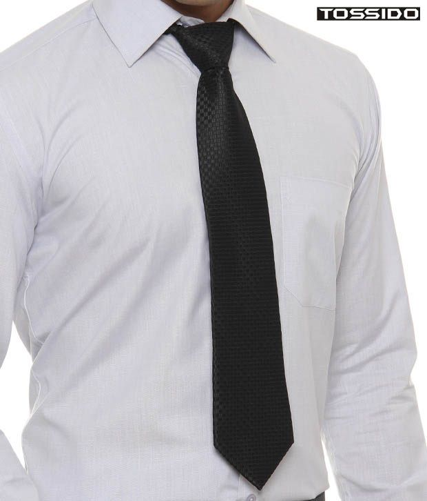 Tossido Shiny Black Tie