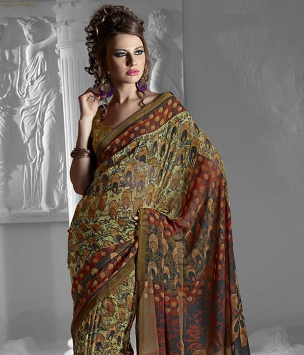 Prafful Multicoloured Georgette Saree