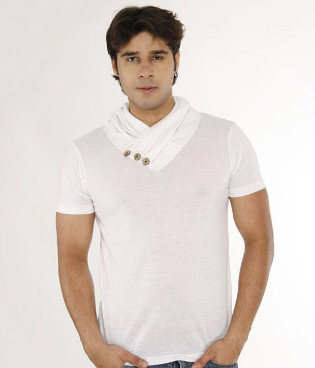 A For F White High Neck T-Shirt