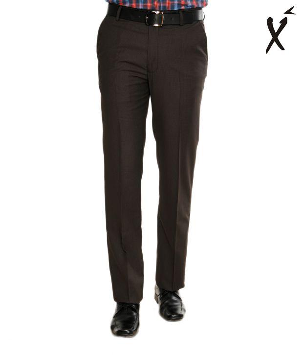 Xenia Brown Checkered Trouser