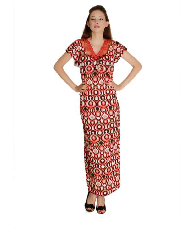 Plums And Peaches Cotton Nighty