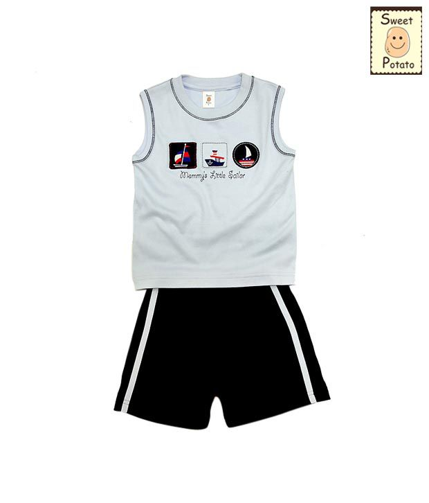 Sweet Potato Mommy's Little Sailor Boys Top and Bottom Set For Kids
