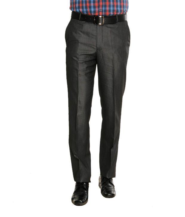 Viggo Classy Grey Formal Trousers