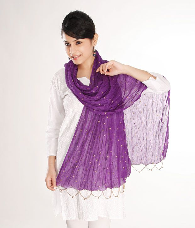 Goodiebag-Purple Chiffon Dupatta