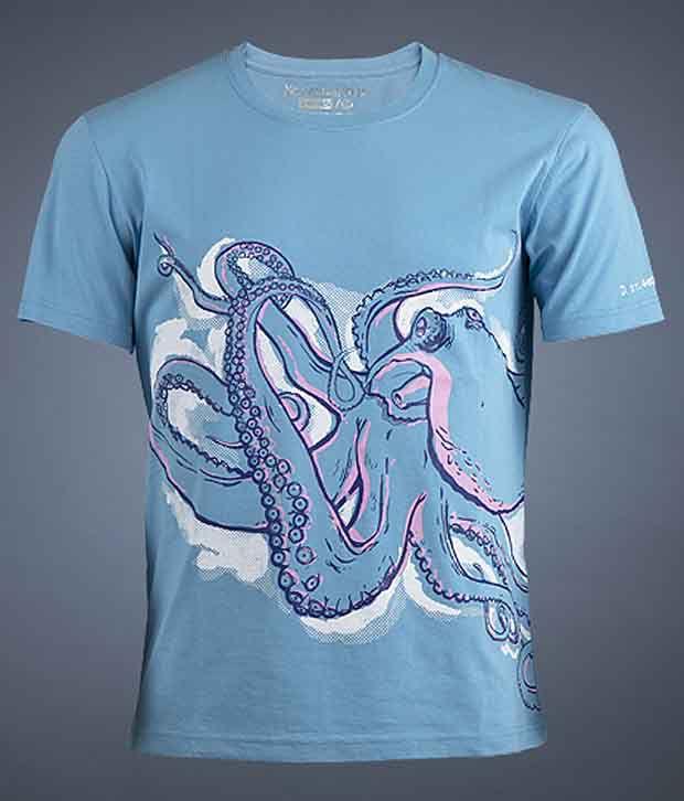 No Ordinary Wear Octopus  Blue  Men's T-Shirt