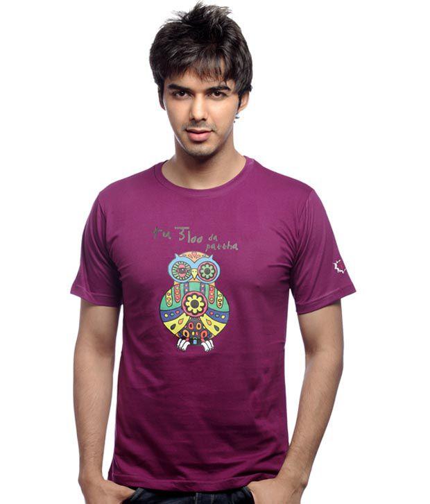 Inkfested Men's Ulla Purple T-shirt