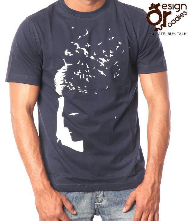 Design Roadies Freedom Men'S Navy T-Shirt