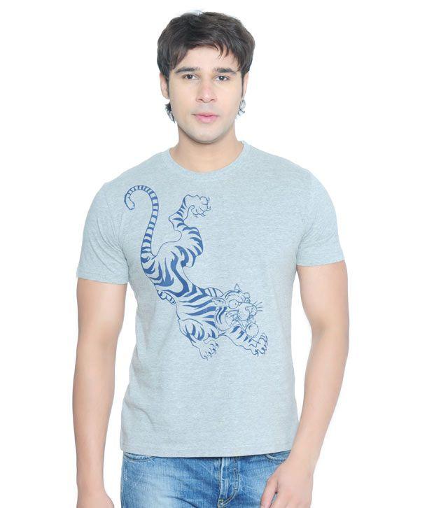 Vvoguish Grey Tiger T-Shirt