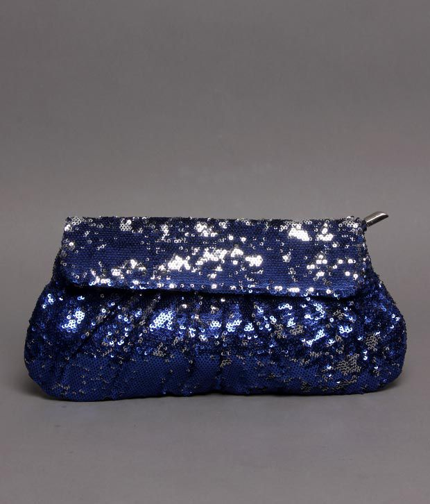 Bolso Royal Blue & Silver Sequins Clutch